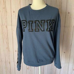 PINK blue sweatshirt size XS